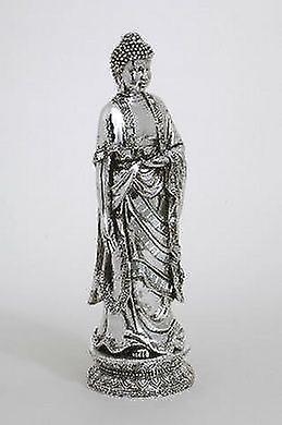 Chrome Standing Buddha Figurine Gift Idea Statue