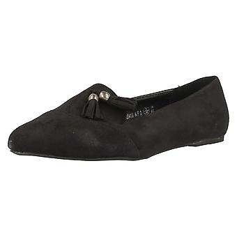 Ladies Spot On Loafer Slip on Flats with Tassle