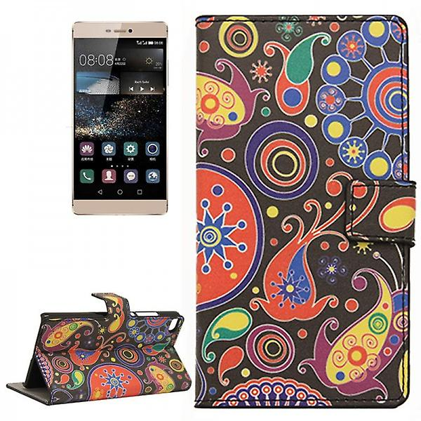 Pocket wallet premium pattern 8 for Huawei Ascend P8