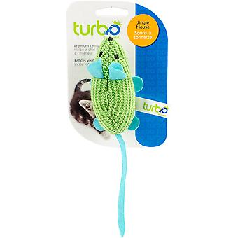 Turbo Random Fun Cat Toy-Jingle Mouse - 7.75
