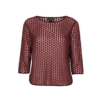 Topshop Daisy Embroidered Mesh Tee TP555-8