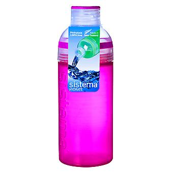 Sistema Trio Drink Bottle 580ml, Pink