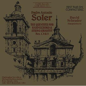 A. soler - Padre Antonio Soler: The kvintetter for cembalo & Strygekvartet nr. 1, 2 & 3 [CD] USA import