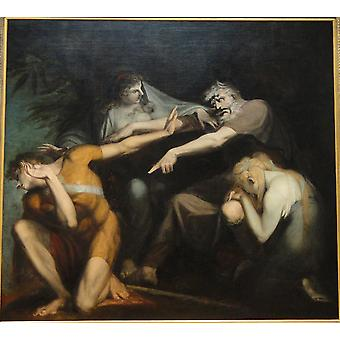 Henry Fuseli - Oedipus Cursing His Son Polynices Poster Print Giclee