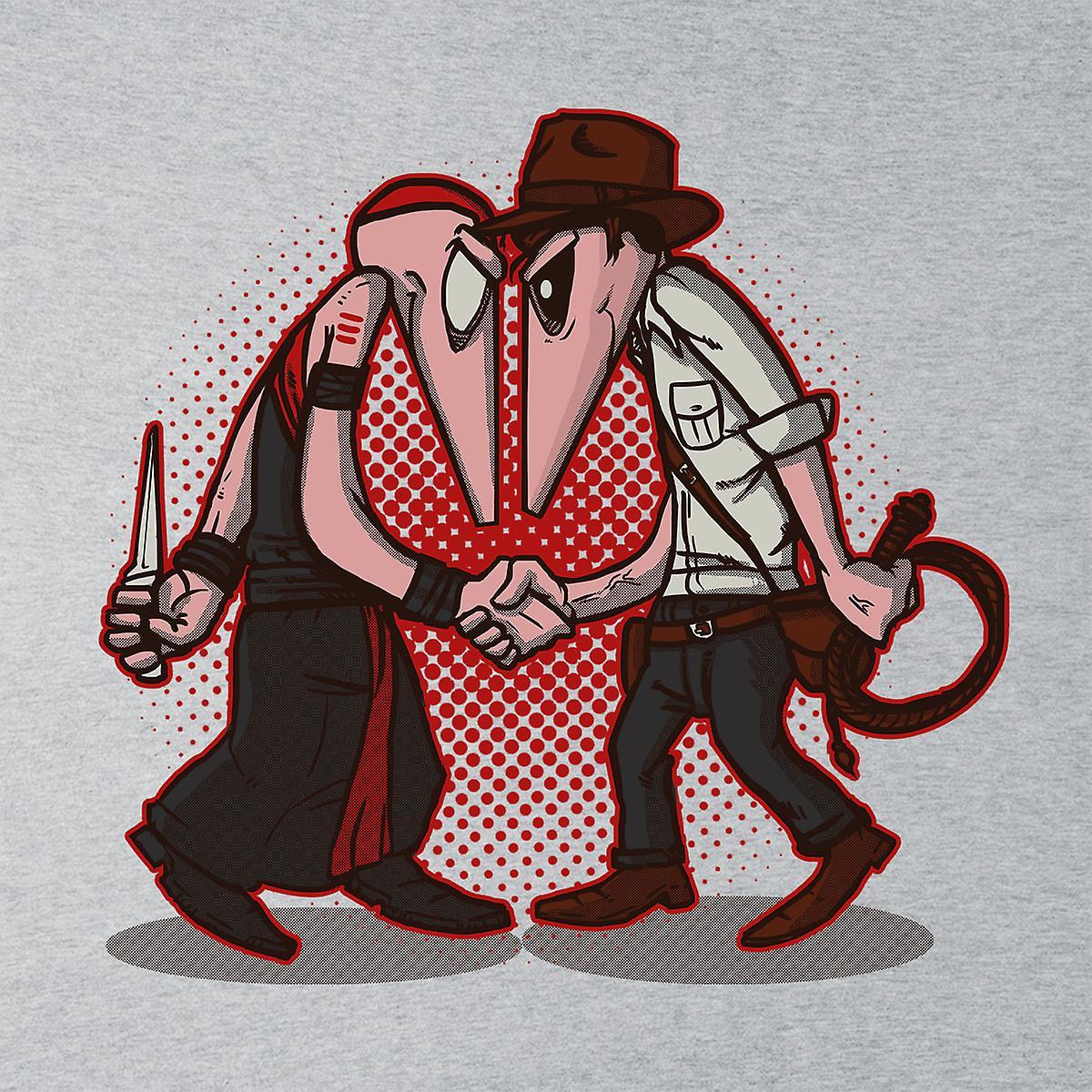 Raider Vs Priest Indiana Jones Vs Mola Ram Temple of Doom Spy Vs Spy Men's T-Shirt