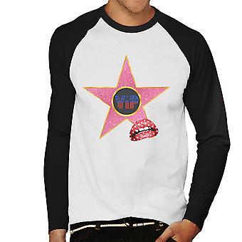 Hollywood promenad med Fame Star VIP läppar mäns Baseball Långärmad T-Shirt