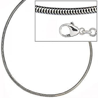 silver necklace necklace 925 sterling silver snake chain 1, 6 mm rhodium plated 45 cm