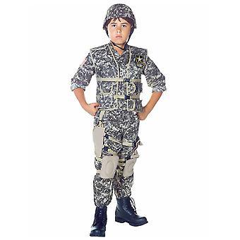 Army Ranger Deluxe militære hær soldat ensartet bog uge drenge kostume