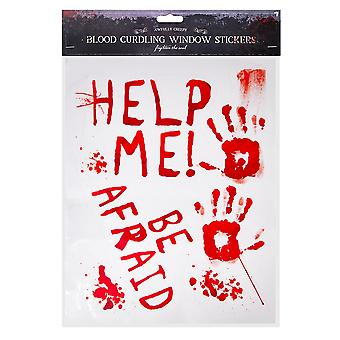 Halloween Bloody Window Stickers Party Decoration-Be Afraid
