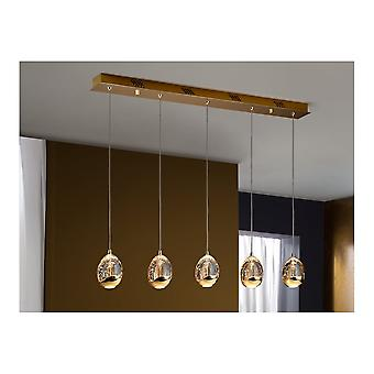 Schuller Rocio 5 Light Modern Spanish Gold Island Pendant Ceiling Light