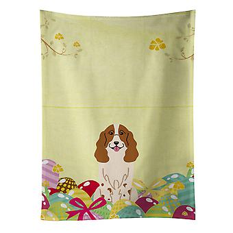 Carolines Treasures  BB6031KTWL Easter Eggs Russian Spaniel Kitchen Towel