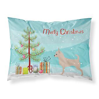 Taie d'oreiller Standard de Chihuahua joyeux Noël arbre tissu