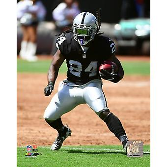 Marshawn Lynch 2017 Action Photo Print