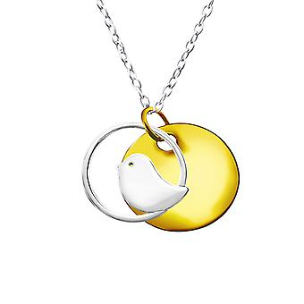 Bird - 925 Sterling Silver Plain Necklaces - W22825x