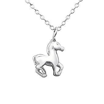 Pferd - 925 Sterling Silber Plain Halsketten - W29889x