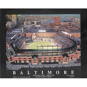 Baltimore Maryland - Camden Yards (nahe Poster Print von Mike Smith (28 x 22)
