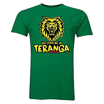 Senegal Les Lions De La Teranga T-Shirt (Green) - Kids