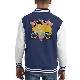 Mermaid Mighty Ducks Logo Kid's Varsity Jacket