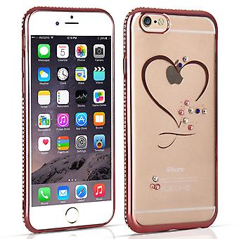 iPhone 6 och 6s Diamond Edge Case - Rose Gold