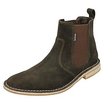 Mens Lambretta Ankle Boots Regent - Brown Suede Leather - UK Size 11 - EU Size 45 - US Size 12