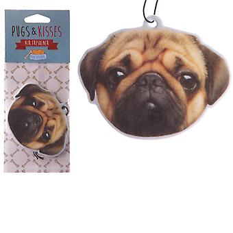 Fun Air Freshener - Peach Fragranced Pug
