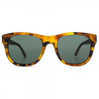 Polo Ralph Lauren Curved Square Sunglasses In Vintage Tokyo Tortoise