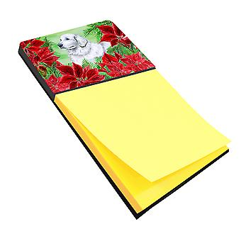 Carolines Treasures  CK1323SN Maremma Sheepdog Poinsettas Sticky Note Holder