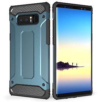 Samsung Galaxy Note 8 gepanzerte stoßfest Carbongehäuse - blau