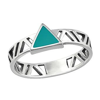 Triangle - 925 Sterling Silver Plain Rings - W36408X