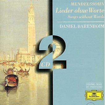 Daniel Barenboim - Mendelssohn: Songs Without Words [CD] USA import