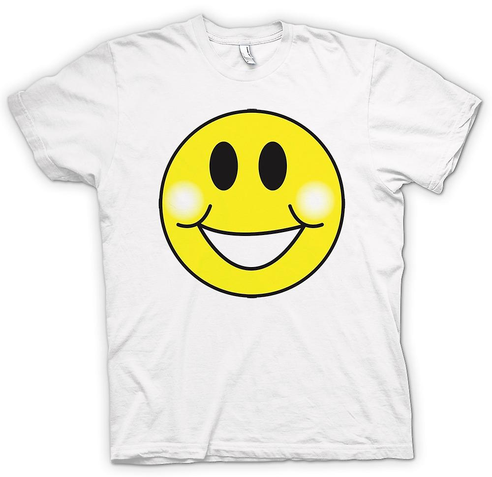 Womens T-shirt - Smiley Face - Chubby Cheeks - Acid House