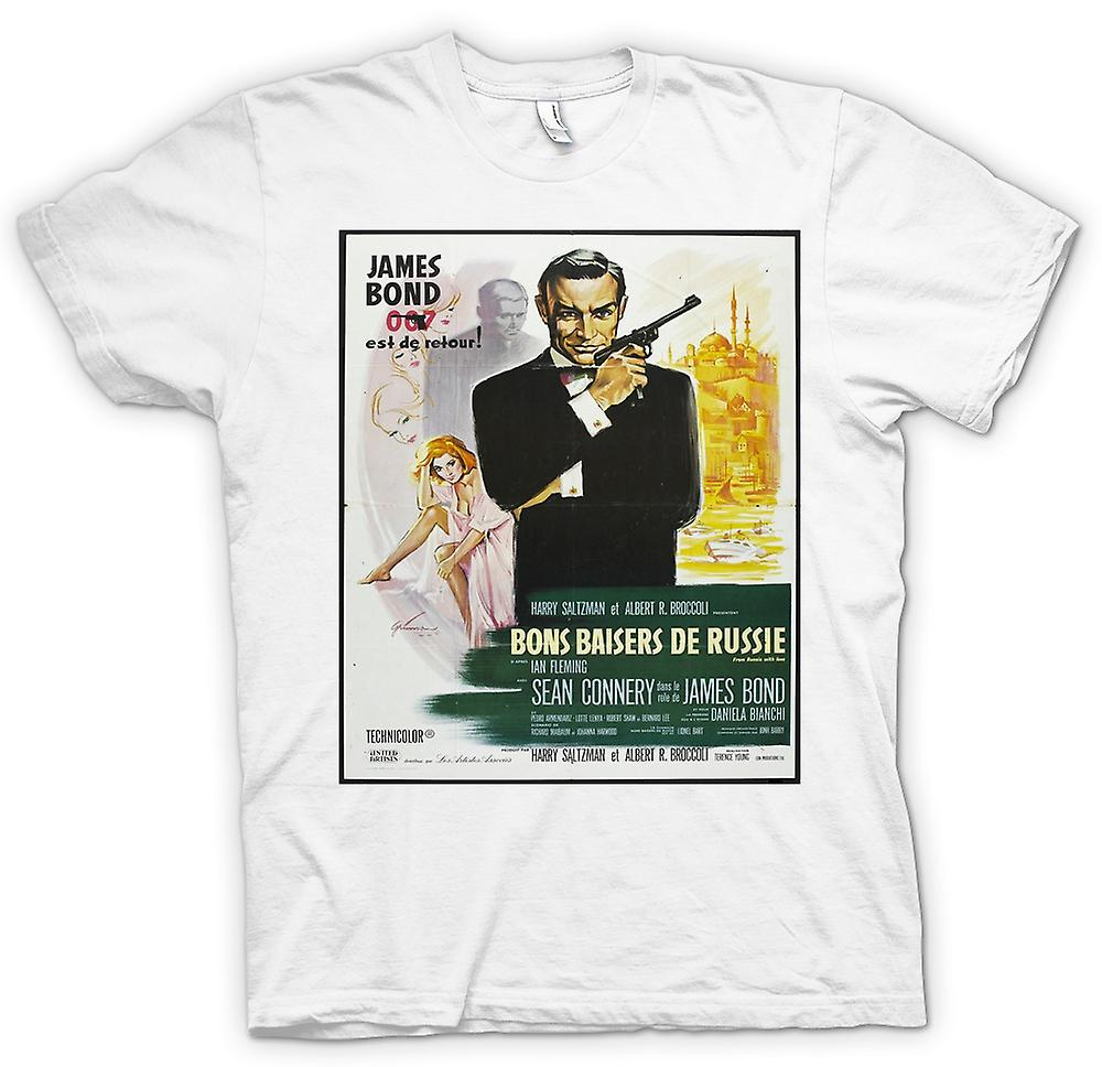 T-shirt - dalla Russia con amore - francese Movie Poster