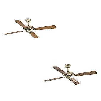 Faro Ceiling fan Yakarta Aged Gold with pull cord