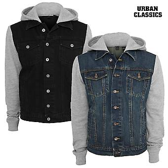 Urban Classics Hooded Jacket Denim Fleece
