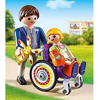 Playmobil ciudad vida niño en silla de ruedas
