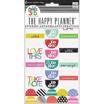 Create 365 Happy Planner Stickers 6/Sheets -To Do, Brights