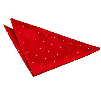 Dark Red Pin Dot Einstecktuch