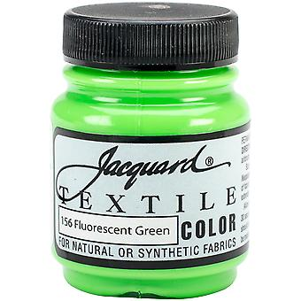 Jacquard Textile Color Fabric Paint 2.25oz-Fluorescent Green