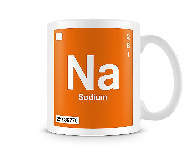 Element Symbol 011 Na - Sodium Printed Mug