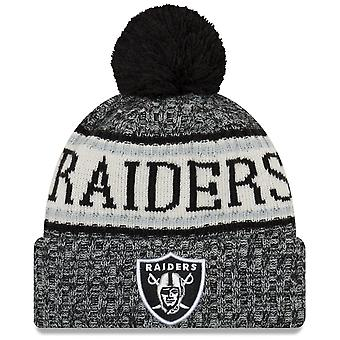 New era NFL sideline 2018 Bobble Hat - Oakland Raiders
