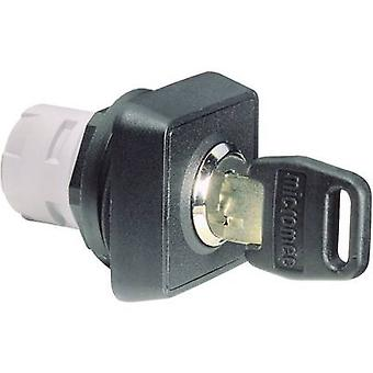 Key switch Black 1 x 90 ° RAFI RAFIX 16 1.30076.001 1 pc(s)
