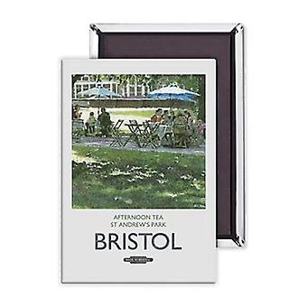 Bristol Afternoon Tea St Andrews Park Steel Fridge Magnet