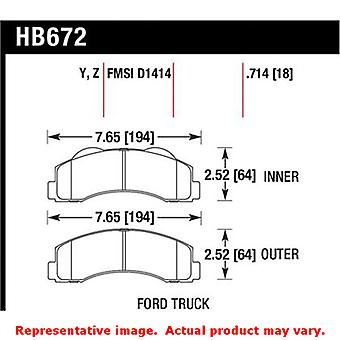 Hawk 'Performance Street' Brake Pads HB672Z.714 Fits:FORD 2010 - 2014 EXPEDITIO