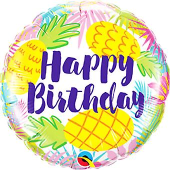 Qualatex 18in Birthday Pineapples Foil Balloon