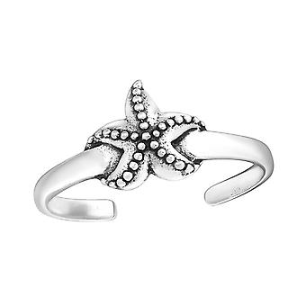 Starfish - 925 Sterling Silver Toe Rings - W27626X