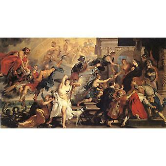 Apotheosis of Henry IV, Peter Paul Rubens, 80x40cm