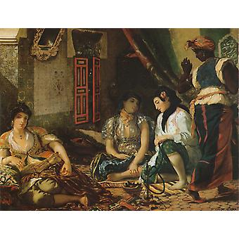 Algerian Women in Their Appartments, Eugene Delacroix, 50x40cm