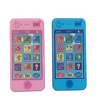 Toy phone pink or blue with sound
