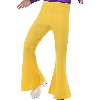 Pantalones acampanados, Mens, amarillo