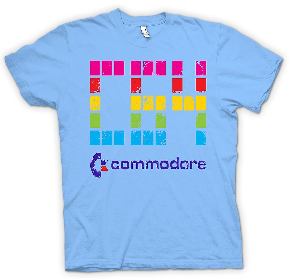 Mens t-shirt - Commodore C64 - Computer retrò giochi - divertente